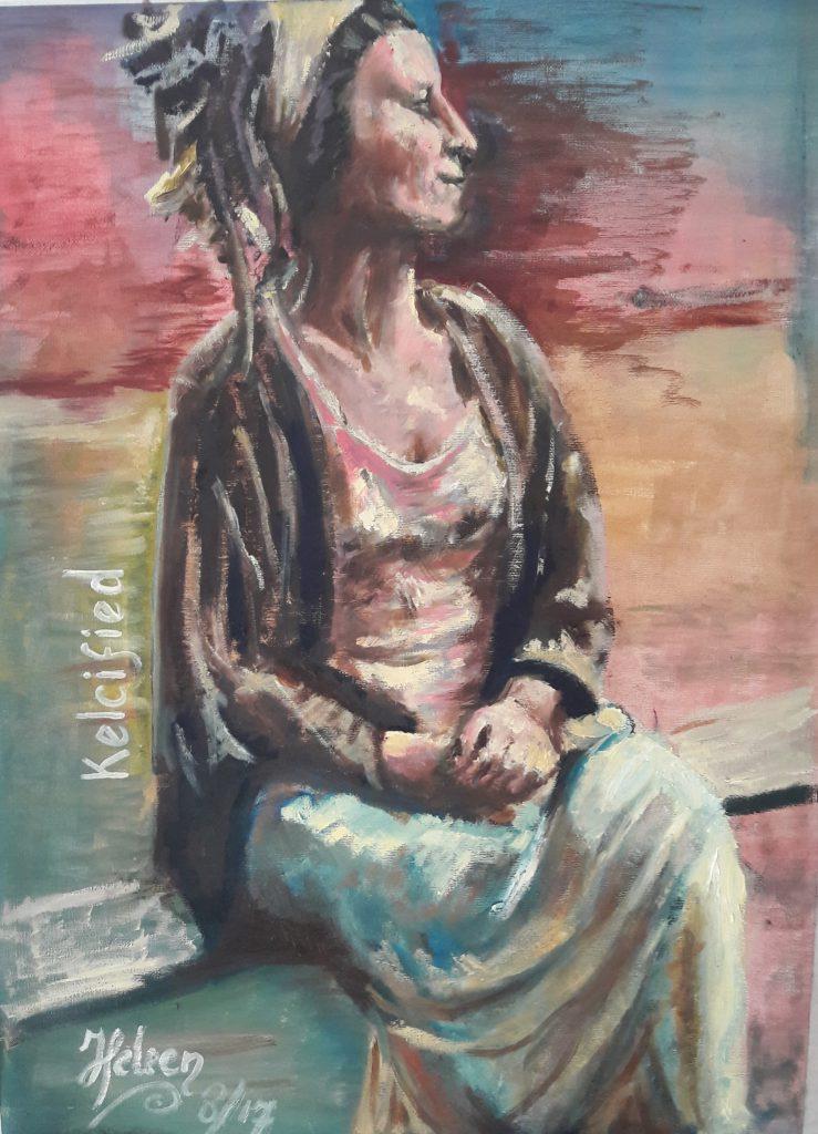 Kelcifeid-music portret 8/17   45 x 60 cm; niet meer in bezit