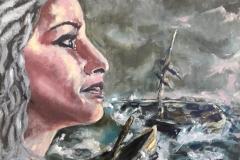 Storm, Hoop en Horizon olieverf op karton 45 x 35 cm € 200,- excl lijst Verkocht